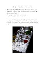 Lưu ý khi sử dụng chậu và vòi rửa trong bếp ppt