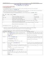 lý thuyết, bài tập và phương pháp giải phần dao động cơ