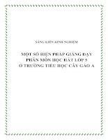 skkn một số biện pháp giảng dạy phân môn học hát lớp 5 ở trường tiểu học cây gáo a
