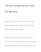 Talk about a popular person in yourown age group docx