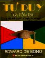 Tư duy là tồn tại - Edward de Bono Phần 1 pps