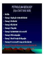 ĐỊA CHẤT DẦU KHÍ ( PETROLEUM GEOLOGY ) - CHƯƠNG 1 potx