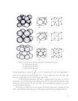 Giáo trình hướng dẫn phân tích quy trình vận dụng cấu tạo mạng hợp tinh thể của kim loại nguyên chất p2 potx