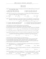 Kiểm tra học kỳ II – môn vật lý - năm học 2011 doc