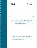 Báo cáo tài chính tổng hợp đã được kiểm toán của văn phòng CÔNG TY cổ PHẦN vận tải và THUÊ tàu BIỂN VIỆT NAM tại ngày 31 tháng 12 năm 2012 kèm theo báo cáo kiểm toán độc lập