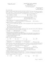 ĐỀ KIỂM TRA TRẮC NGHIỆM MÔN Vật lý 12 - Mã đề 485 ppt