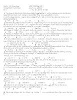 KIỂM TRA HỌC KỲ II Môn: Vật lý- Khối 11 ppsx