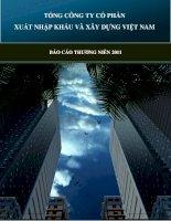 TỔNG CÔNG TY cổ PHẦN XUẤT NHẬP KHẨU và xây DỰNG VIỆT NAM báo cáo THƯỜNG NIÊN 2011