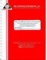 báo cáo kết quả công tác soát xét báo cáo tài chính hợp nhất cho giai đoạn kế toán từ ngày 01 01 2011 đến ngày 30 06 2011 công ty cổ phần xây dựng 47 được soát xét công ty kiểm toán và tư vấn thăng long t d k