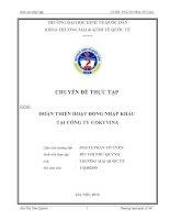 Hoàn thiện hoạt động nhập khẩu tại công ty cổ phần thương mại bưu chính viễn thông (COKYVINA)