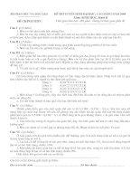 Đề thi tuyển sinh môn sinh học năm 2004 pdf