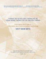 THÔNG TIN và số LIỆU THỐNG kê về  CÔNG NGHỆ THÔNG TIN và TRUYỀN THÔNG information and data on information and communication technology VIET NAM 2013