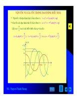 Bài giảng vật lý : Khảo sát dao động điều hòa part 2 doc