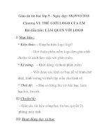 Giáo án tin học lớp 5 - Chương VI: THẾ GIỚI LOGO CỦA EM Bài đầu tiên: LÀM QUEN VỚI LOGO docx