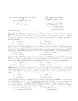 Kiểm tra trắc nghiệm THPT Đề thi Khối 12: Môn Vật Lý - Mã đề thi: 02 pdf