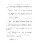 Bài giảng chế biến khí : TỔNG HỢP TRÊN CƠ SỞ OXYT CACBON part 1 docx