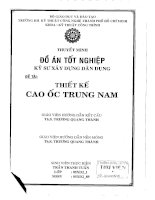 ĐỒ ÁN TỐT NGHIỆP KỸ SƯ XÂY DỰNG THIẾT KẾ CAO ỐC TRUNG NAM