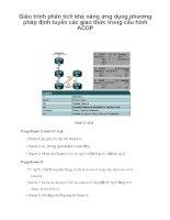 Giáo trình phân tích khả năng ứng dụng phương pháp định tuyến các giao thức trong cấu hình ACDP p1 pot