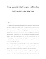 Tổng quan tài liệu Nho giáo và Nho học ở viện nghiên cứu Hán Nôm pptx
