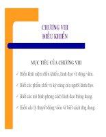 Bài giảng Nguyên lý Quản trị học - Chương 8 Điều khiển pdf