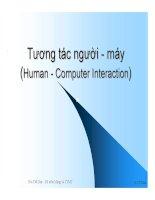 Tương tác người - máy (Human - Computer Interaction) - Phần 2 pptx