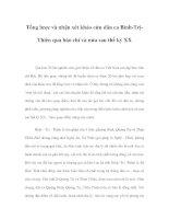 Tổng lược và nhận xét khảo cứu dân ca Bình-TrịThiên qua báo chí và nửa sau thế kỷ XX ppt