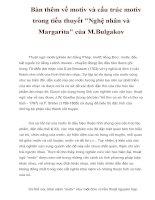 Bàn thêm về motiv và cấu trúc motiv trong tiểu thuyết pot