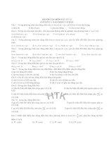 BÀI ÔN TẬP MÔN VẬT LÝ 12 CHƯƠNG 1: DAO ĐỘNG CƠ HỌC doc