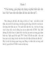 """bai 10 Chủ trương, giải pháp xây dựng và phát triển nền văn hóa Việt Nam tiên tiến đậm đà bản sắc dân tộc""""."""