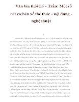 Văn bia thời Lý - Trần: Một số nét cơ bản về thể thức - nội dung nghệ thuật pps