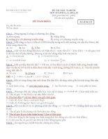 ĐỀ THAM KHẢO MÔN VẬT LÝ - Mã đề thi 132 pot