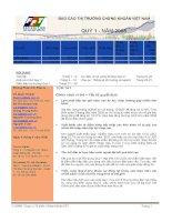 BÁO cáo THỊ TRƯỜNG CHỨNG KHOÁN VIỆT NAM QUÝ 1 năm 2008 phòng phân tích đầu tư công ty cổ phần chứng khoán FPT