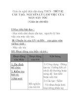 Giáo án nghề điện dân dụng THCS - TIẾT 82 CẤU TẠO, NGUYÊN LÝ LÀM VIỆC CỦA MÁY SẤY TÓC ppsx