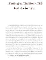 Trường ca Thu Bồn - Thể loại và cấu trúc pdf