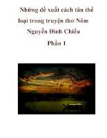 Những đề xuất cách tân thể loại trong truyện thơ Nôm Nguyễn Đình Chiểu Phần 1 pps