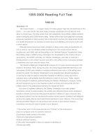 1995-2000 Reading Full Test phần 1 pdf