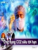 Bài thuyết trình môn sản xuất dược phẩm  đóng gói CO2 siêu tới hạn