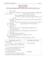 Giáo án âm nhạc lớp 4: Học bài hát: NHỮNG BÔNG HOA NHỮNG BÀI CA (tiết 3) potx