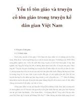 Yếu tố tôn giáo và truyện cổ tôn giáo trong truyện kể dân gian Việt Nam ppsx