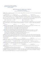 KIỂM TRA HỌC KỲ I MÔN VẬT LÝ KHỐI 12 - TRƯỜNG THPT LÊ MINH XUÂN pdf