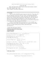 Một số PP giải bài toán Bất đẳng thức