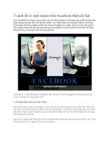7 cách để có một status trên Facebook thật nổi bật ppt