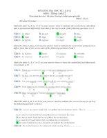 ĐỀ KIỂM TRA HỌC KÌ 1 LẦN 2 MÔN : Tiếng Anh 12 pdf