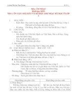 Giáo án âm nhạc lớp 4: ÔN TẬP 3 BÀI HÁT VÀ KÍ HIỆU GHI NHẠC ĐÃ HỌC Ở LỚP 3 docx