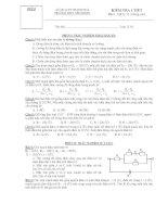 KIỂM TRA 1 TIẾT Môn : Vật lý 11 (Nâng cao) ppsx