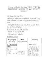 Giáo án nghề điện dân dụng THCS - TIẾT 46: NHỮNG KHÁI NIỆM CƠ BẢN VỀ MÁY BIẾN ÁP ppt