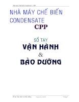 Sổ tay Vận hành và Bảo dưỡng : Nhà máy Chế biến Condensate - CPP part 1 docx