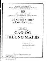 ĐỒ ÁN TỐT NGHIỆP KỸ SƯ XÂY DỰNG THIẾT KẾ CAO ỐC THƯƠNG MẠI BS