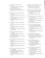 Đề thi chứng chỉ tiếng anh TOEFL năm 2001 mã số 08