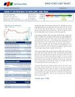 BÁO cáo cập NHẬT ngành bất động sản 18 tháng 04 năm 2014 CÔNG TY cổ PHẦN đầu tư NAM LONG